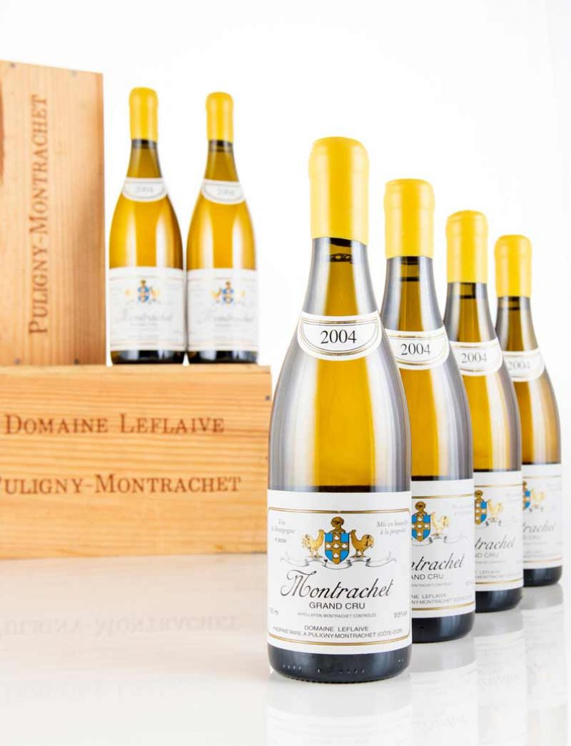 Lot 1090: 12 bottles 2004 Domaine Leflaive Montrachet in OWCs