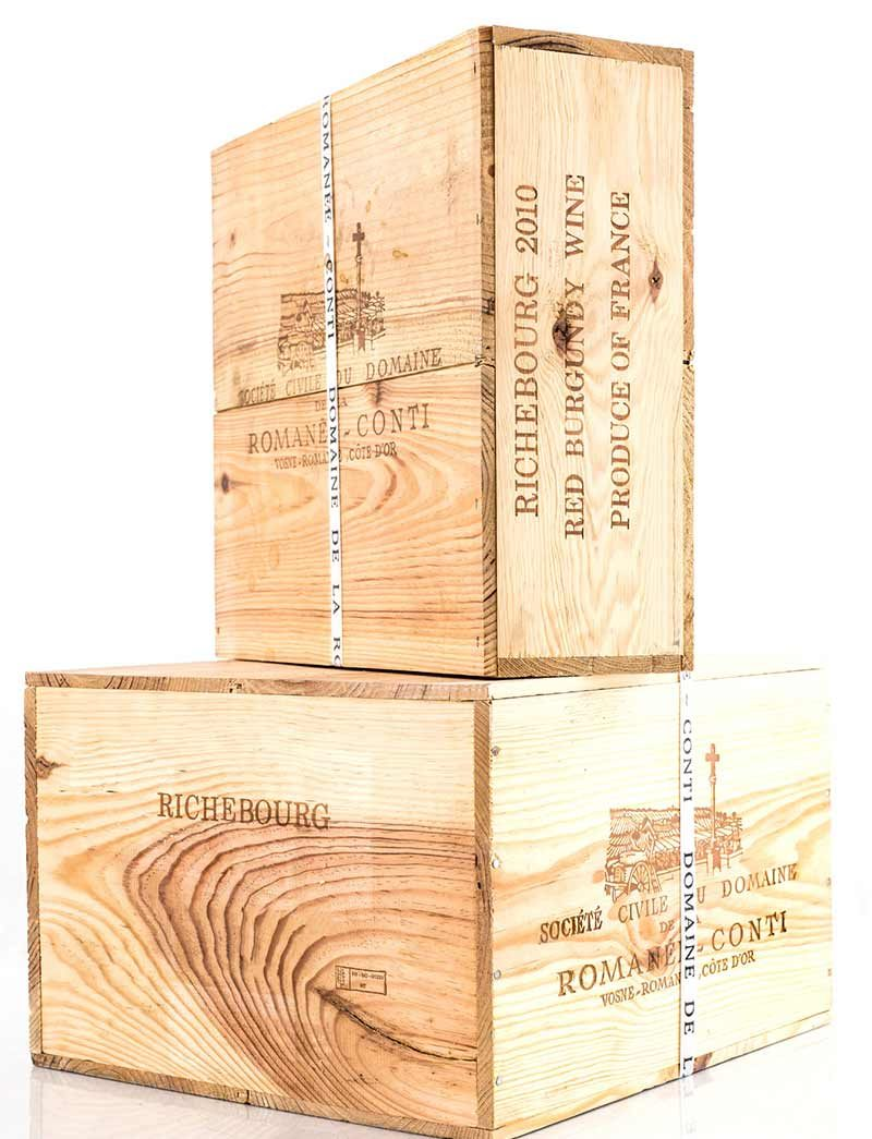 Lot 691, 692: 6 and 3 magnums of 2010 DRC Richebourg in banded OWCs