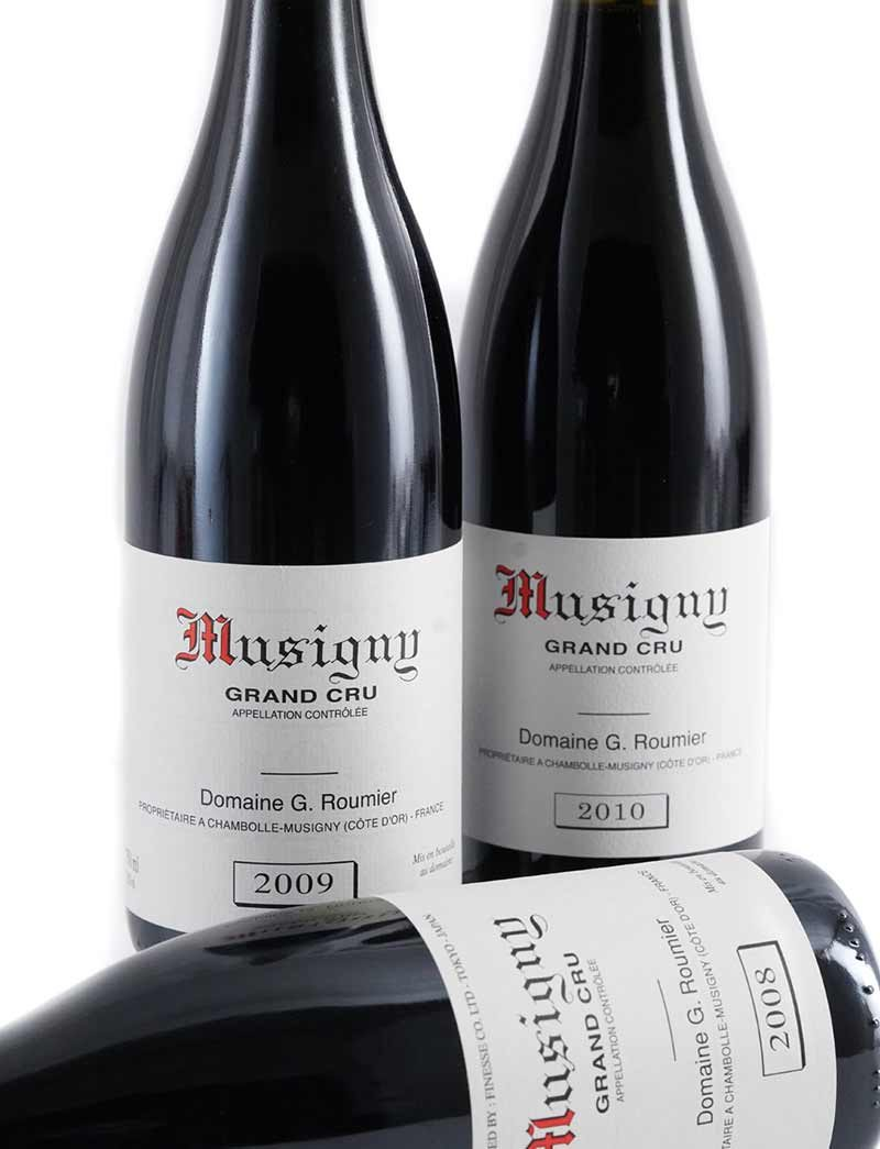 Lot 795-797: 1 bottle each 2008-2010 G. Roumier Musigny